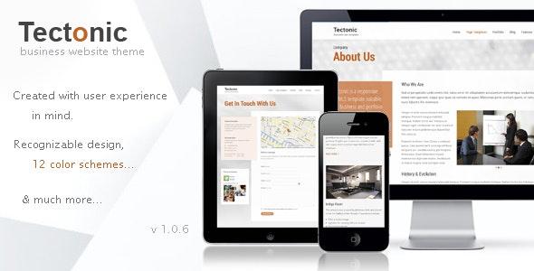 Tectonic - Responsive WordPress Theme - Business Corporate