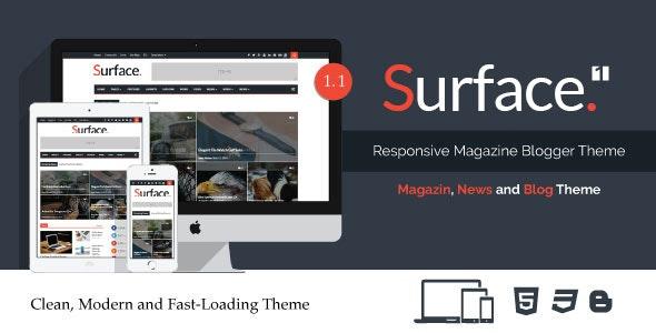 Surface - Responsive Magazine Blogger Theme - Blogger Blogging