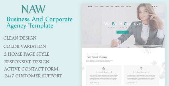 Naw - Business and Corporate Agency Template - Business Corporate