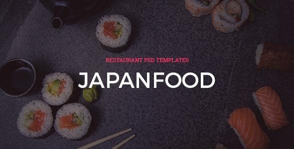 Japan - FoodRestaurant PSD Templates - Food Retail