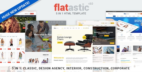 Flatastic - Premium Versatile HTML Template - Retail Site Templates