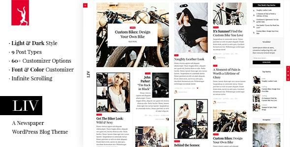 Liv - A Newspaper WordPress Blog Theme - News / Editorial Blog / Magazine