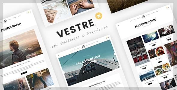 Vestre | Creative Photography & Portfolio WordPress Theme - Photography Creative