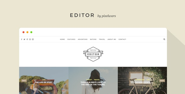 Editor - A WordPress Theme for Bloggers - Personal Blog / Magazine