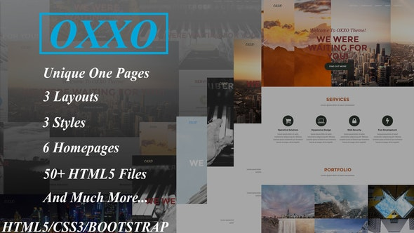 OXXO - Creative OnePage HTML5 Template - Site Templates