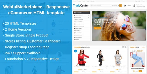 Marketplace - Responsive eCommerce HTML Template - Miscellaneous Site Templates