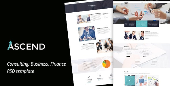 Ascend - Consulting & Finance PSD Template - Corporate Photoshop