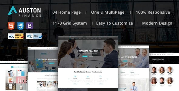 Auston - Finance, Corporate and Consulting Business HTML5 Template - Business Corporate