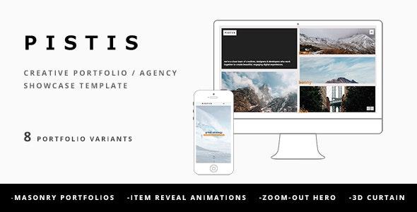 Pistis - Creative Portfolio / Agency Template - Creative Site Templates