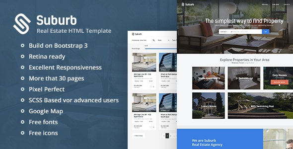 Suburb - Real Estate HTML Template - Business Corporate