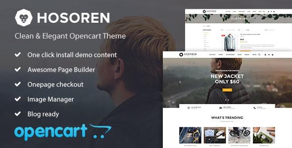 Hosoren - Elegant & Responsive Opencart Theme - Shopping OpenCart