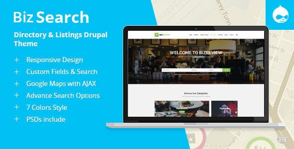 BizSearch - Directory & Listing Drupal Theme - Business Corporate
