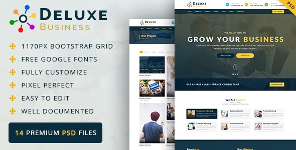 Deluxe Business PSD Template - Business Corporate