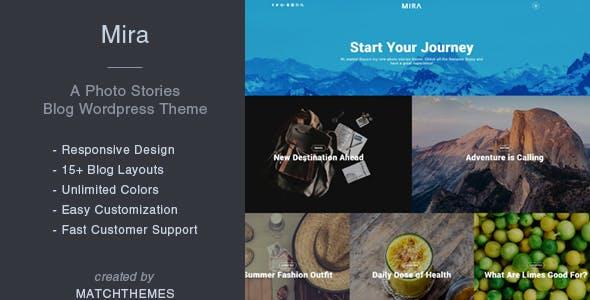 Mira - A Photo Stories Blog Wordpress Theme