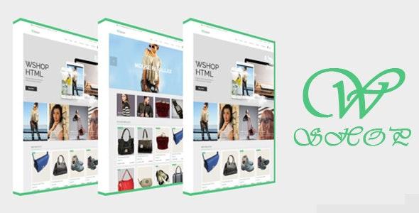 WShop Responsive HTML5 eCommerce Template - Fashion Retail