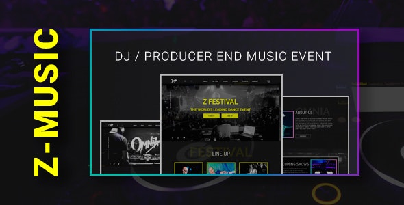 Z-MUSIC - DJ Producer end Music Event - Personal Muse Templates