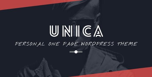 Unica - Personal Resume and Portfolio Theme - Portfolio Creative