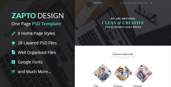 Zapto Design - Multi-Purpose PSD Template - Creative Photoshop