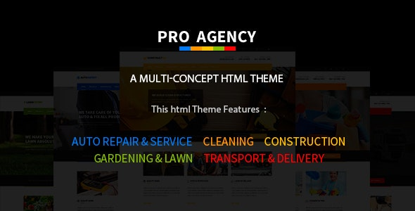 Pro Agency - Multipurpose HTML Template - Business Corporate