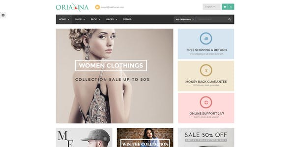 Orianna - Responsive WooCommerce Fashion Theme