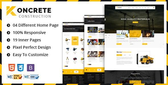 Koncrete - Construction & Building HTML5 Template - Business Corporate
