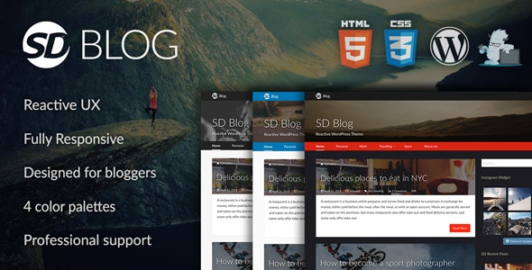 SD Blog – Reactive WordPress Theme - Personal Blog / Magazine