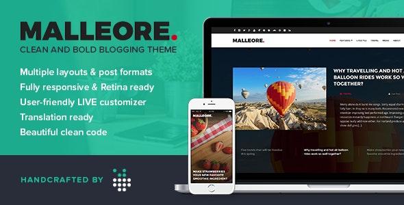 Malleore - Clean and Bold WordPress Blogging Theme - Blog / Magazine WordPress