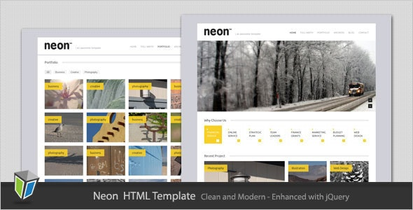 Neon - Clean and Modern HTML Template - Portfolio Creative