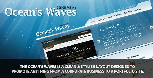 Ocean's Waves HTML Templates - Business Corporate