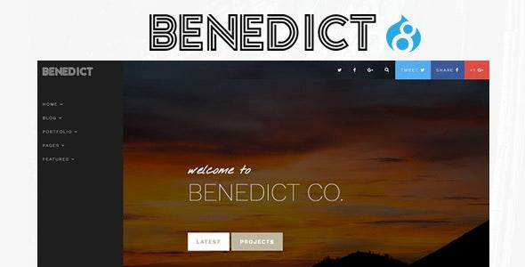 Benedict - Creative Side Navigation Blog/Portfolio Drupal Theme - Personal Blog / Magazine
