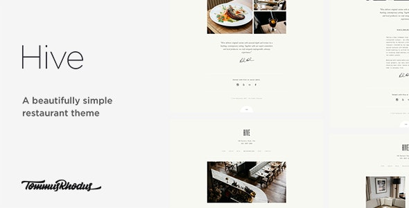 Hive - Restaurant & Cafe WordPress Theme - Food Retail