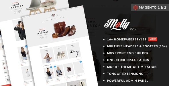 Molly - Elegant & Clean Multipurpose Magento 2 & 1 Theme - Magento eCommerce