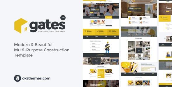 Gates - Multi-Purpose Construction Website Template