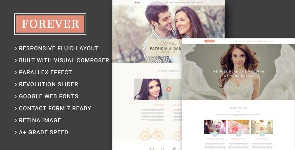 Forever - Wedding Couple & Planner/ Agency WordPress Theme - Wedding WordPress
