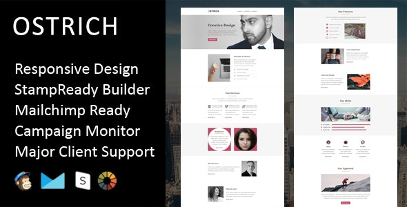 Ostrich - Multipurpose Responsive Email Template + Stampready Builder - Email Templates Marketing