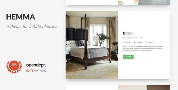 Hemma - A WordPress theme for Holiday Houses - Travel Retail