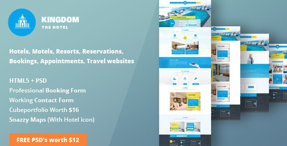 Kingdom - HTML Template for Hotels - Travel Retail