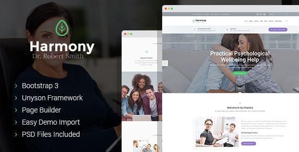 Harmony - psychologist and psychotherapist WordPress theme - Business Corporate