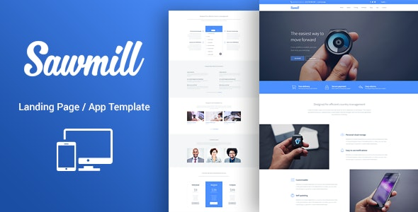 Sawmill - Responsive Landing Page Template - Landing Pages Marketing