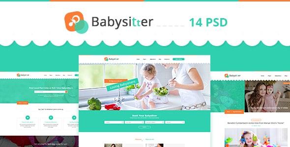 Babysitter - Directory Portal PSD Template - Creative Photoshop