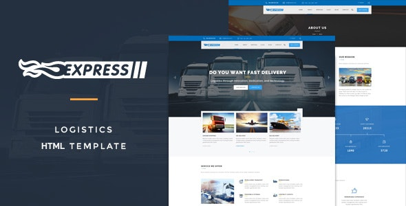 Express Logistics - Transport HTML Template - Business Corporate