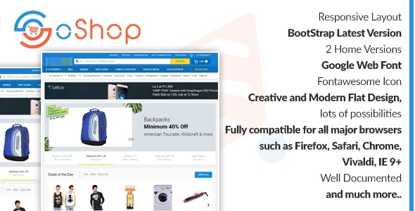 oShop - eCommerce html5 Template - Fashion Retail