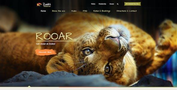 Zooks - Zoo, Cinema, Museum, Comedy Club, Circus & Aquarium PSD Template