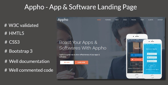 Appho - App and Software Landing Page - Software Technology