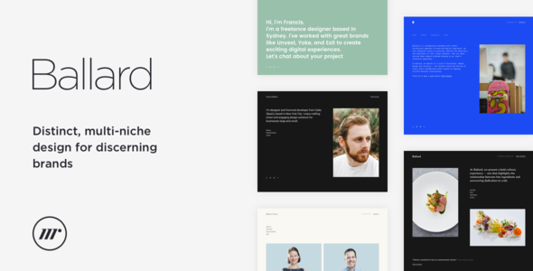 Ballard - Personal CV, Agency, Law & Restaurant HTML template - Creative Site Templates