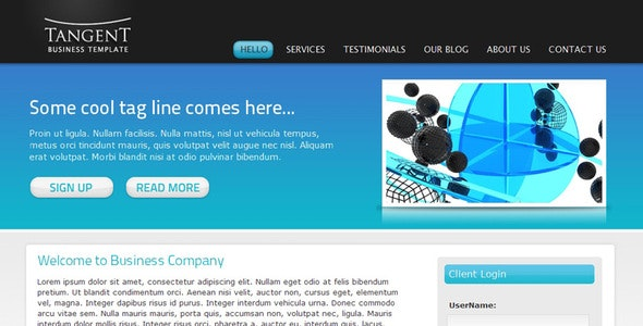 Tangent Business Template - Business Corporate