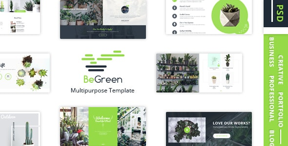 BeGreen - Multipurpose Planter PSD Template - Miscellaneous Photoshop
