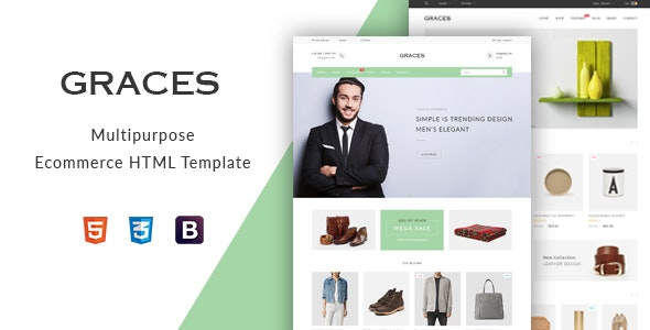 Graces - Multipurpose eCommerce HTML Template - Retail Site Templates