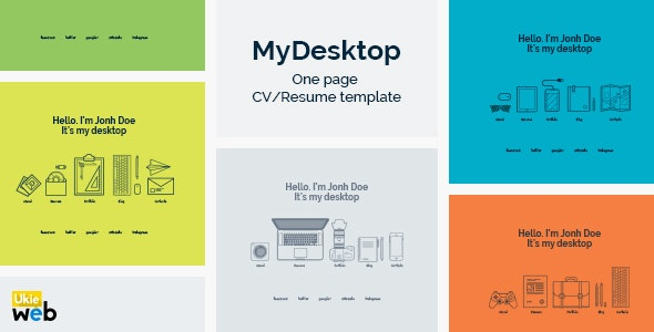 MyDesktop – One Page Personal CV/Resume Template - Resume / CV Specialty Pages