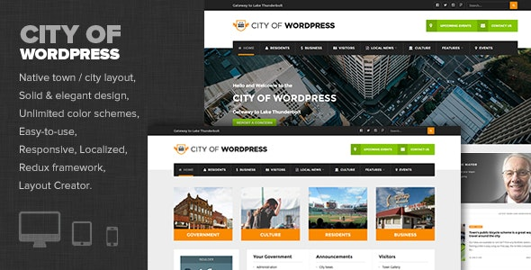 City of WP - Municipal & Local Government Theme - Nonprofit WordPress